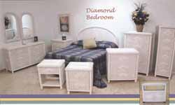 Wicker Bed Room Set