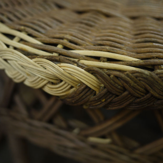 repaired wicker chair